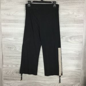 Vertigo Black Vintage Shirred Capri Jog Pants